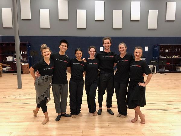 BPB dancers after rehearsals at Palm Beach Opera